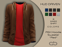 .Atelier. Ash Hoodie Sweater Brown HUD Driven
