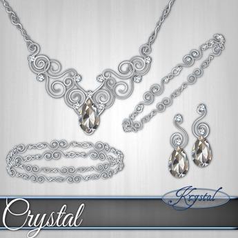 ::: Krystal ::: Crystal - Jewelry Set - Platinum
