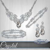 ::: Krystal ::: Crystal - Jewelry Set - Platinum