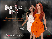 *Soulglitter* Frills Dresses - Bloody & Clean Lace in 2 colors