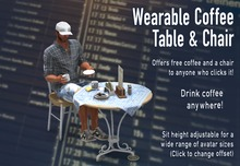 Wearable Coffee Table & Chair