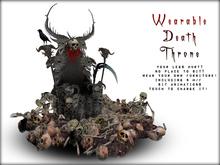 Boudoir Halloween-Wearable Death Throne