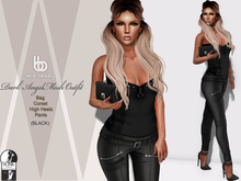 Bens Boutique - Dark Angel Mesh Outfit - Black