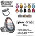 L&B - Ring - Pear Drop Fatpack