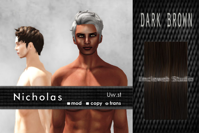 Uw.st   Nicholas-Hair  Dark brown