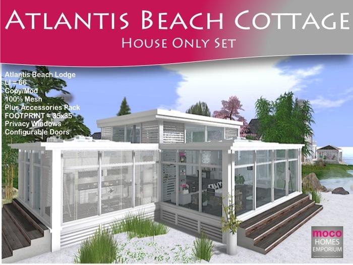 MOCO Emporium ~ Atlantis Mesh Beach Cottage Low Li = 66 House Only