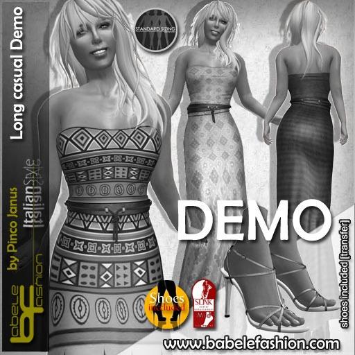 Babele Fashion :: Long Casual Dress Demo