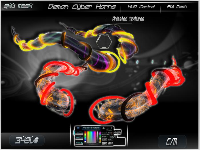 Demon Cyber Horns -Shu Mesh-