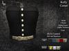 DE Designs - Kelly Corset - Black Leather