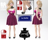 Pink Leopard Rigged Mesh skirt + Top with appliers + Stillettos (Lolas Tango, Slink physique, Lena Body, Wowmeh)