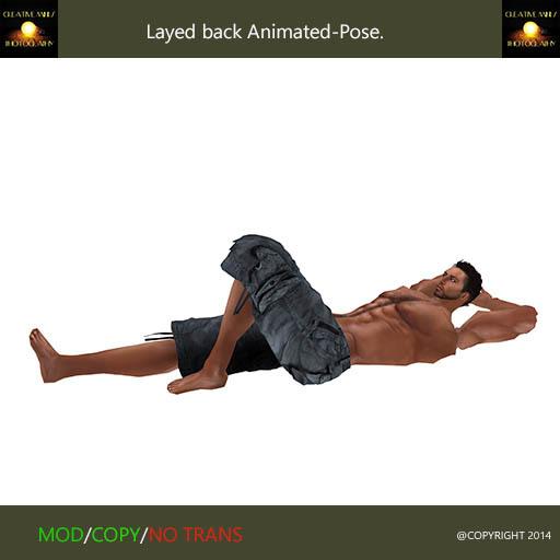Layed back animated-pose