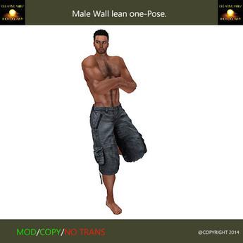 Male wall lean one