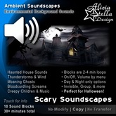 Scary Soundscapes - 30 Total Mins of Ambient Sound in 10 Sound Blocks - Haunted House and Halloween Sounds
