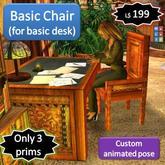 Basic chair [3 prims] (for the Basic Desk)