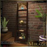 =Mirage= Ladder Shelf - Cyan