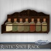 ::: Krystal ::: Rustic Spice Rack - Antique