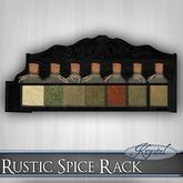 ::: Krystal ::: Rustic Spice Rack - Black
