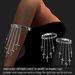 Arm Band Cross-CK Platinum       -RYCA-