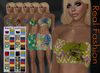 REAL FASHION Volant top and skirt set - TROPICAL