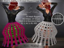 NC : #M012_Full Perm Fit Mesh Rigged Cage Skirt