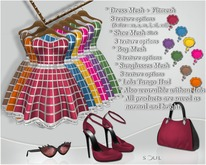 !Soul - 8 Mesh Dress Outfits in 1 +Shoe - Slink+Sunglasses+Appliers A.1