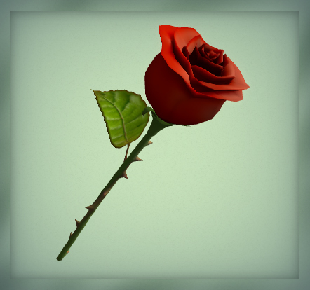 [AG] Rose - Deep Red Rose