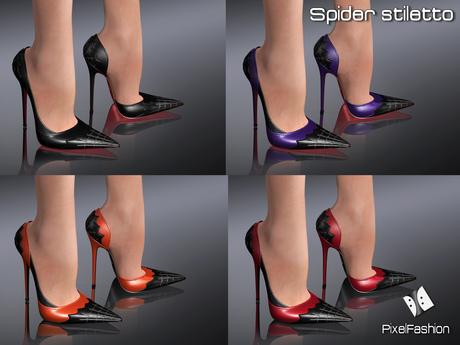 50% OFF :)(: Spider Pumps - 4 Colors - Maitreya lara - slink high feet - Gaeline tip toe - EVE Avatar mesh