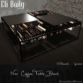 =EliBaily= Nar Coffee Table_Black BOXED