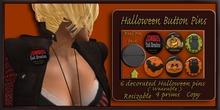 Halloween Button Pins