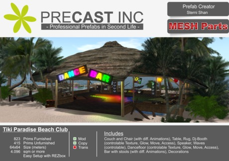 Tiki Paradise (Incl MESH objects) / Beach Club / Lounge / Dance Bar