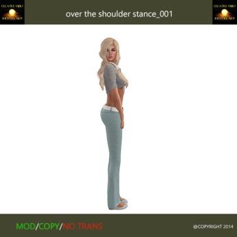 over the shoulder stance