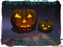 Dragon Magick Wares Mesh Pumpkin Duo Jack O Lanterns