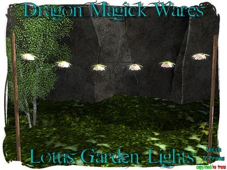 Dragon Magick Wares Lotus Garden Lights Mesh