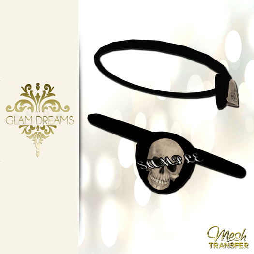 Glam Dreams Mesh Skull Eye Patch With Resizer