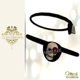 Glam Dreams Mesh Skull & Rose Eye Patch With Resizer
