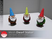 [DD] - FULL PERM  Gnome / Dwarf Statue