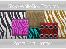 **Skye WhiteBox Textures  Big Value! 162 Zebra Print Leather-  Full Perms Leather Textures