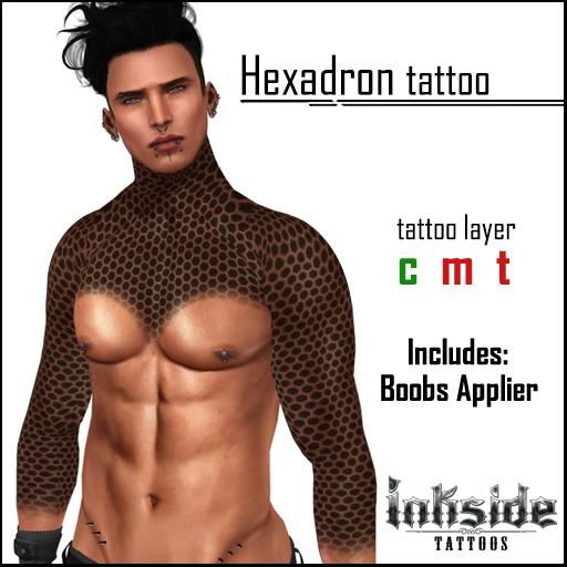 Inkside Tattoos - Hexadron Tattoo with lolas applier