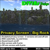 Privacy Screen - Big Rock