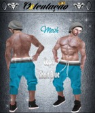:::OTC:::005 -Mesh Capri Shorts Blue