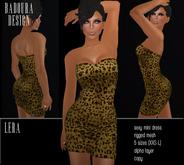 BD-Lera gold Mini Dress Mesh leo glitter print short dress