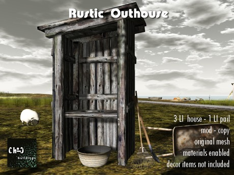 Outhouse w animations (materials)