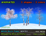 21strom: White Birch Trees WINTER - animated mesh trees with wind