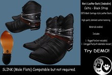 NP_Leather Boots - Snakeskin - Celtic - black