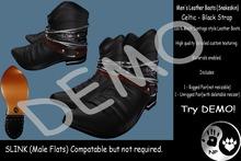 NP_Leather Boots - Snakeskin - Celtic - black - DEMO