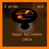 happy halloween table 1