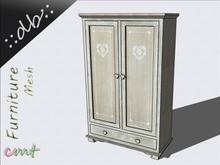 ::db furniture:: Romantic wooden Wardrobe Camille