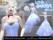 EB Atelier - Luna GHOST FITMESH (Banshee) Avatar&Dress with hovering animation- italian designer