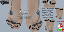 CuteBomb Spiked Locked Toe Rings*attach n accept*