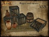 Boxes with vases - Old World - Rustic Furniture - Medieval decoration